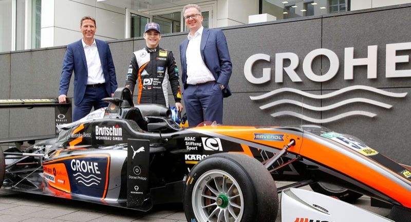 Grohe sponsert aufstrebendes Motorsport-Talent David Beckmann in der Formel 3