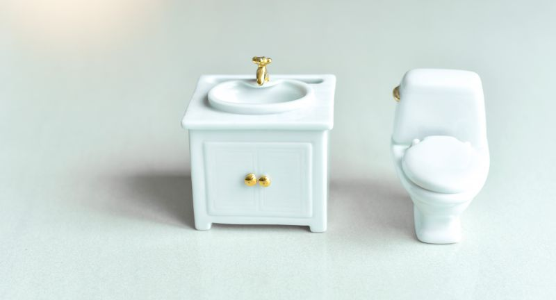 flush, creative, background, bathroom, bowl, care, ceramic, clean, closeup, concept, decor, decoration, decorative, design, elegance, equipment, floor, health, healthy, home, household, isolated, lavatory, luxury, mini, miniature, nobody, object, privacy, restroom, sanitary, sink, small, tiny, toilet, washroom, water, white