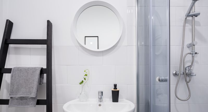 bathroom, basin, towel, ladder, shelf, shower, mirror, white, tiling, interior, home, tiles, wall, small, classic, simple, apartment, faucet, tap, sink, soap, towels, washbasin, modern, new, design, style, stylish, house, cozy, contemporary, indoor, indoors, furniture, decor, flat, architecture, minimalism, studio, room, monochromatic, bright, light, hygiene, clean, clear, black, bathroom, basin, towel, ladder, shelf, shower, mirror, white, tiling, interior, home, tiles, wall, small, classic, simple, apartment, faucet, tap, sink, soap, towels, washbasin, modern, new, design, style, stylish, house, cozy, contemporary, indoor, indoors, furniture, decor, flat, architecture, minimalism, studio, room, monochromatic, bright, light, hygiene, clean, clear, black